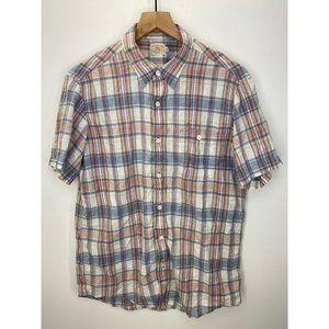 Faherty Short Sleeve Button-Down Shirt Size Medium